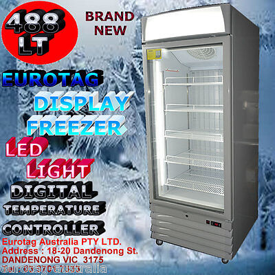 Eurotag 488Lt  Led Light Commercial Upright Display Freezer Rrp$3499.0 Brand New