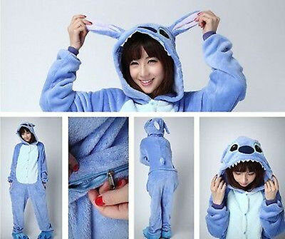 Animal Cosplay Costume Sleepwear Stitch Adult Unisex roberPajamas Kigurumi