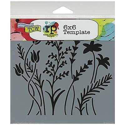 Crafters Workshop Template, 6 by 6-Inch, Wildflowers (TCW6X6-433) CXX