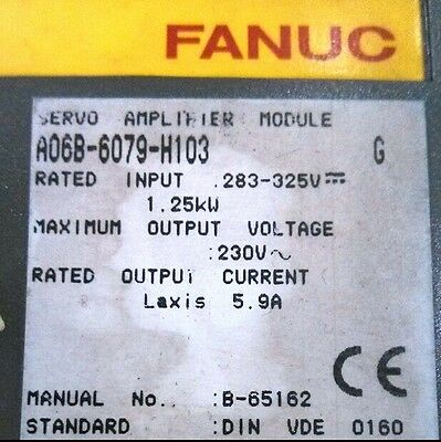 1PCS Used FANUC Servo Amplifier Module A06B-6079-H103 Tested