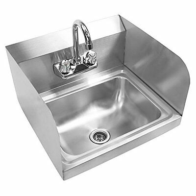 Gridmann Commercial Stainless Steel Wall Mount Hand Washing Sink w/ Faucet &