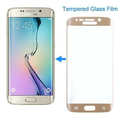 Gold SAMSUNG GALAXY S7 EDGE FULL CURVED 3D TEMPERED GLASS SCREEN PROTECTOR FILM