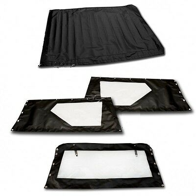 Ensemble De Baches 6 Elements En Pvc Noir Pour Rodeo 4