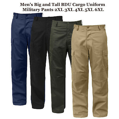 Men's Big and Tall BDU Cargo Uniform Military Pants 2XL 3XL 4XL 5XL 6XL