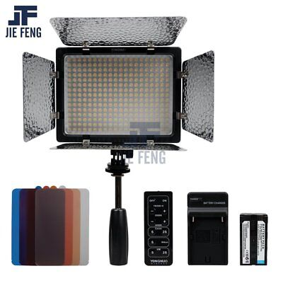 Yongnuo YN-300 II LED Camera Video Light 3200-5500k+4800mAh NP-F750 Battery kit