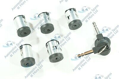 Fiat Scudo Peugeot Expert Citroen Dispatch New Door Lock Barrel Set of 5 &2 Keys