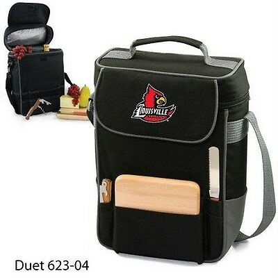 Picnic Time Louisville Cardinals - Duet Wine and Cheese Tote-Black