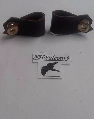 Falconry Aylmeri Anklets All Sizes Made Genuine Leather *10/10 For Quality*