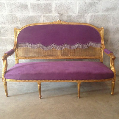 Antique sofa made in Louis XVI, French style - FREE SHIPPING