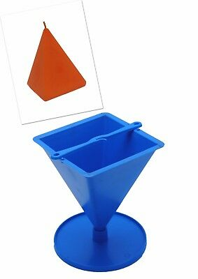 "Proops Pyramid Shaped Candle Mould with Stand, 4"" Tall. UK Made. S7545"