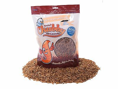 500g Chubby Dried Mealworms High Protein Wild Bird Chicken Food Treat