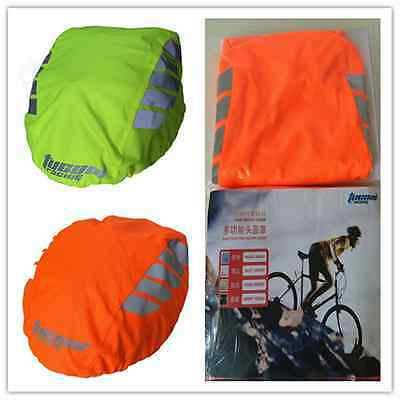 Night Visual Waterproof Bicycle Bike Helmet Cover Rain Cover Jacket Material