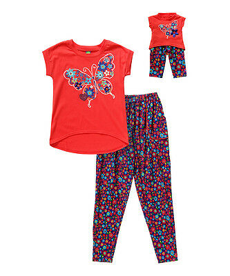 """Dollie Me Sz 6-14 and 18"""" doll matching  dress outfit clothes fit american girl"""