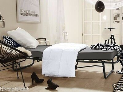 g stebett klappbett bett klappbar mit matratze rollen staubschutzh lle 200 x 80 eur 129 90. Black Bedroom Furniture Sets. Home Design Ideas