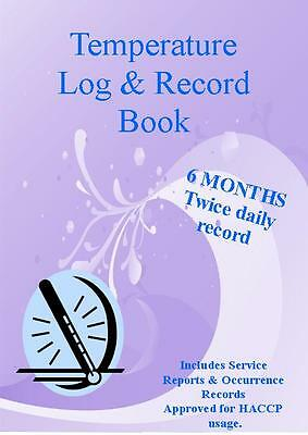 Temperature Log & Record BOOK