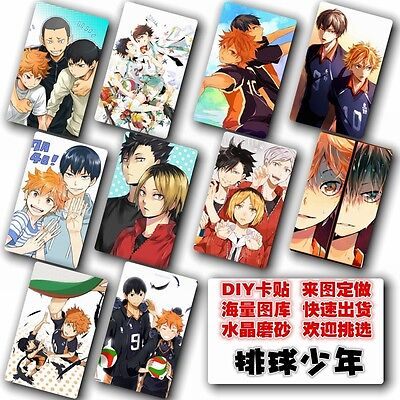 Japan Anime Haikyuu!! 10 pc/set  collection Card Paster IC Card Sticker Cred