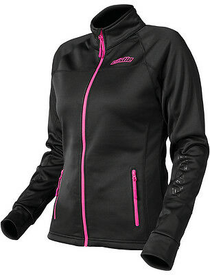 CastleX Womens Black/Magenta Fusion Snowmobile Mid-Layer Jacket Snow Snocross