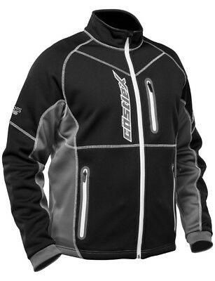 CastleX Mens Black/White Fusion SE Snowmobile Mid-Layer Jacket Snow Snocross