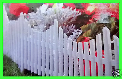 4 of Garden Lawn PICKET Border Edging Panel Plastic Decorative Wall Fence Grass