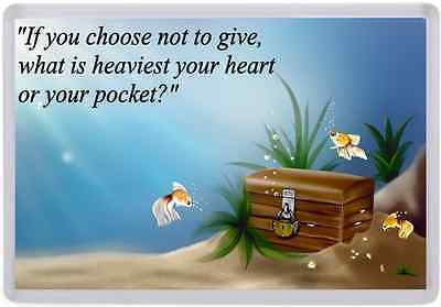 Extra Large Quote Quotation Wisdom Charity Giving Sharing Friend fridge magnet