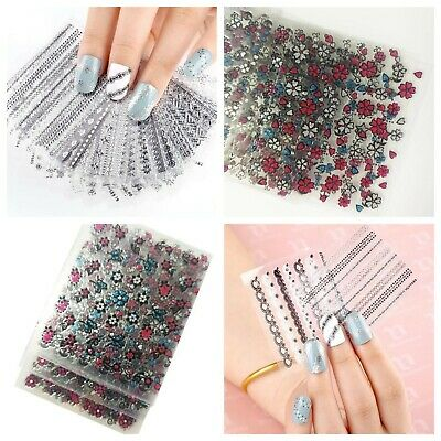 108pcs 3D Flowers Nail Art Stickers Decals For nail art tips decorations