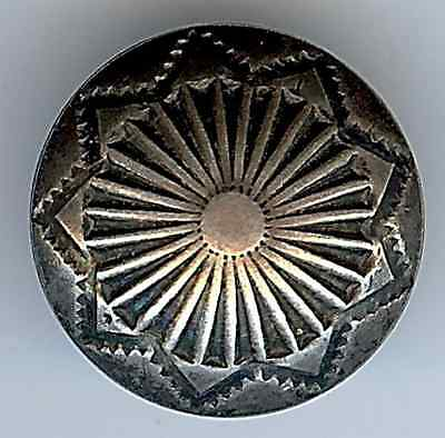 Small Vintage Navajo Indian Sterling Silver Button