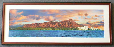 BROWN BLACK PANORAMIC Panorama Poster Frames4art IVORY any size Mat custom size