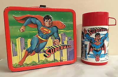 Vintage 1978 Aladdin Superman Lunchbox With Thermos