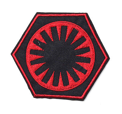"""Star Wars First Order Logo 3"""" Red & Black Embroidered Patch-FREE S&H(SWPA-FA-03)"""