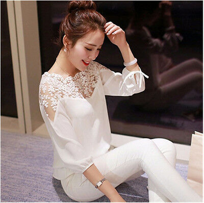 Tops Long Sleeve  Casual Shirt New Chiffon  Loose Summer  Ladies  Blouse