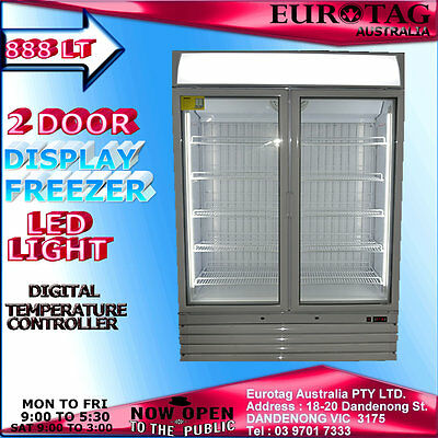 Eurotag 888Lt  Led Light Commercial Upright Display Freezer Rrp$4999.0 Brand New