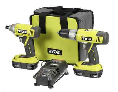 Ryobi ONE+ 18/Volt Lithium-Ion Cordless Drill/ ImpactDriver and Kit 2-Tool