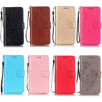 Butterfly Wallet Leather Flip Case Cover For iPhone XS Max 5S 5C 6 6S 7 8 Plus X