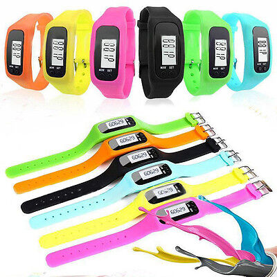 Hot Digital LCD Pedometer Wrist Step Run Walking Distance Calorie Counter Watch