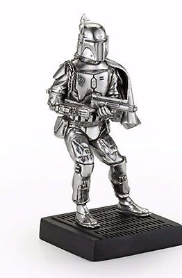 Star Wars Pewter Figurine Boba Fett - Officially Licensed by Royal Selangor