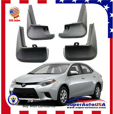 FOR 2014-2019 TOYOTA COROLLA SEDAN Mud Flaps Splash Guard Fender Mudguard
