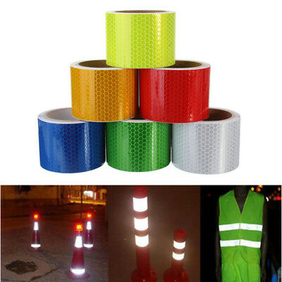 Multi Night Reflective Safety Warning Conspicuity Tape Film Truck Car Sticker