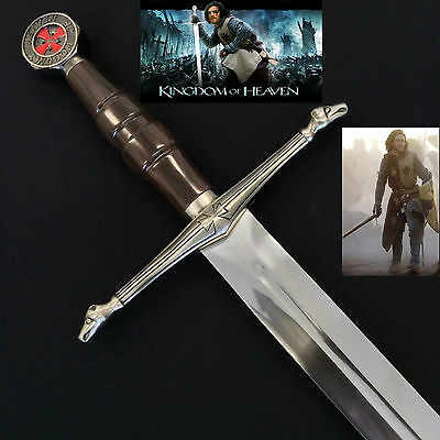 Medieval Kingdom of Heaven Crusader Sword of Ibelin with scabbard