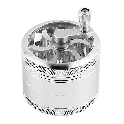 4 Layers Aluminum Handle Mill Grinder Herb Tobacco Spice Crusher Fantastic