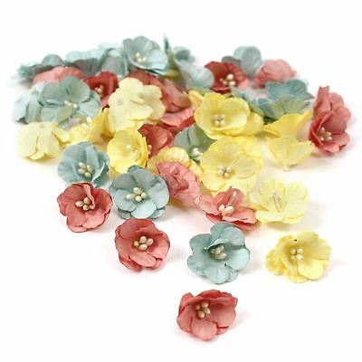 Docrafts All You Need is Love Paper Flowers 50 Pack Toppers Embellishments Craft
