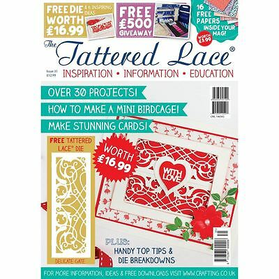 Tattered Lace Magazine Issue 31 Over 30 Projects + Free Cutting Die Cutter Craft