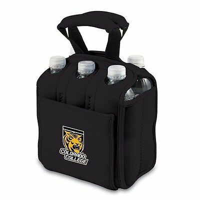 Picnic Time Colorado College Tigers - Six Pack Beverage Carrier- Black