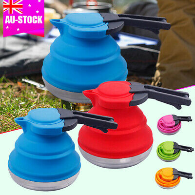 Collapsible Kettle Camping Fishing Folding Pop-Up Gas Stove Hob Water Pot