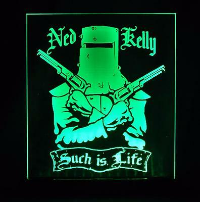 Ned Kelly Outlaw Legend Large Led Bar Room Feature Night Table Light