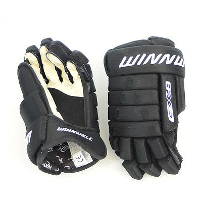 GX8 Ice Hockey Glove, Winnwell elite Ice Hockey Gloves, BLACK