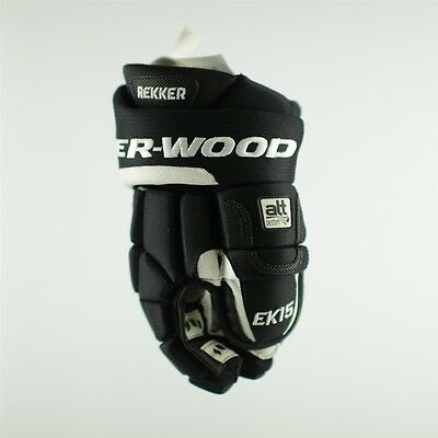 Sher-Wood EK15 Pro ICE HOCKEY GLOVES, Black hockey gloves