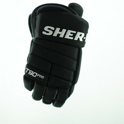 SHER-WOOD T90 PRO Hockey Glove (Black) 2015, pro ice hockey gloves