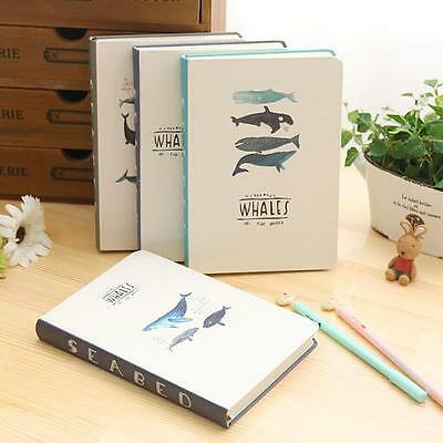 """Swim Freely"" 1pc Cute Notebook Hard Cover Diary Planner Journal Study Agenda"