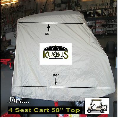 Premium Quality Golf Cart Storage Cover, 600Denier Poly, Medium Cover Kuveralls