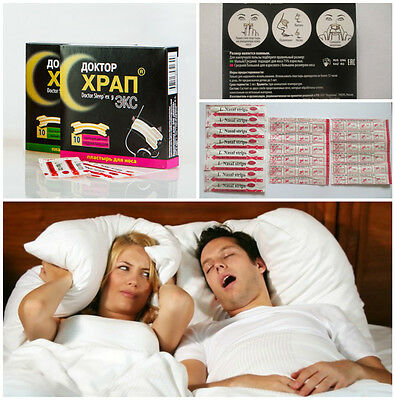 Mirrolla Snore strips help in breathing stop snoring Dr. Sleepex 1x10 pieces